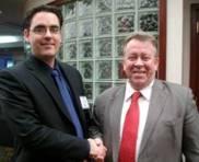 Robert Laporte with Michael Gravelle